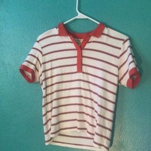 Striped buttoned shirt